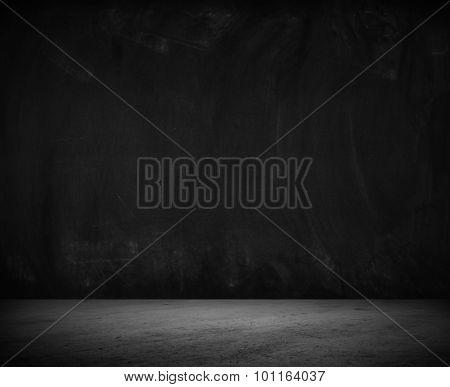 Empty floor and blank wall