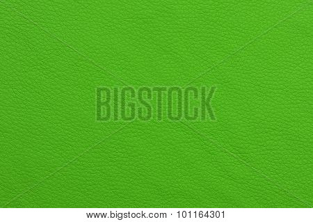 Bright Green Patterned Artificial Leather Texture