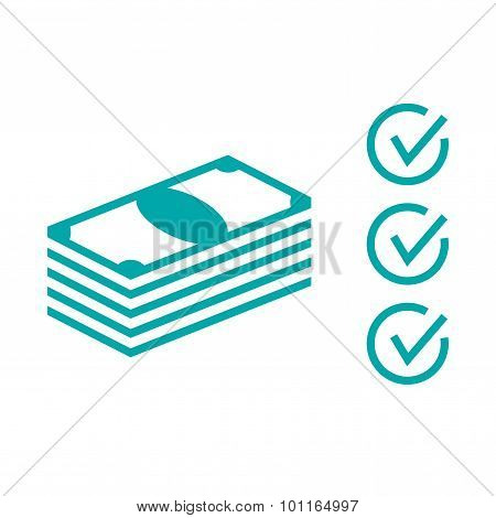 Financial Plan - Stack Of Money Icon - Stock Illustration