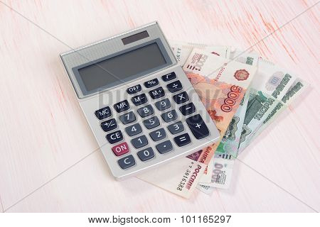 Russian Rubles With Calculator