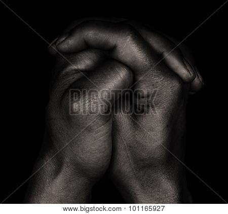 Beautiful Image Of a Black Womans Hands