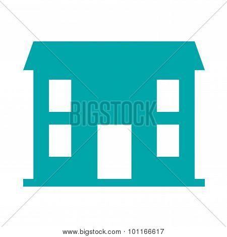Small Building Concept Icon. Stock Illustration Flat Design Icon.