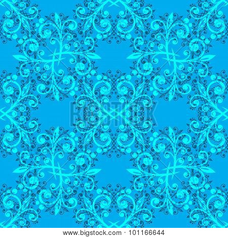 blue fine seamless pattern