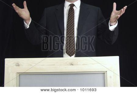Man Addressing Crowd