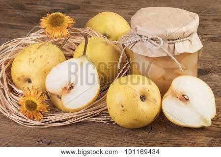 pears fruit compote
