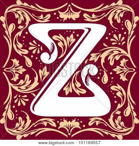 old vintage letter Z