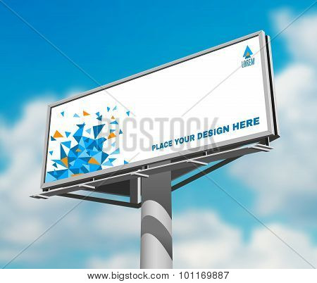 Billboard against sky background day image