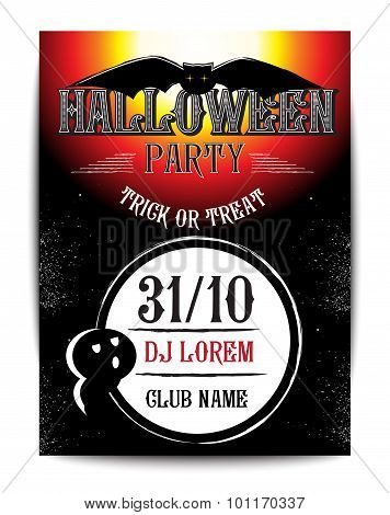 Halloween Party Design template poster with  place for text.