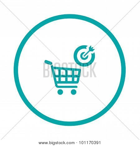 Target Market - Button - Stock Illustration - Target market concept icon - Shopping cart icon - Targ