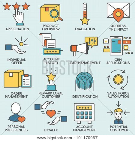 Customer relationship management icons - part 3