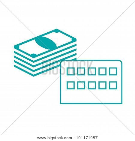 Infrastructure Capital - Factory And Money Icon. Infrastructure Capital Concept Icon. Stock Illustra