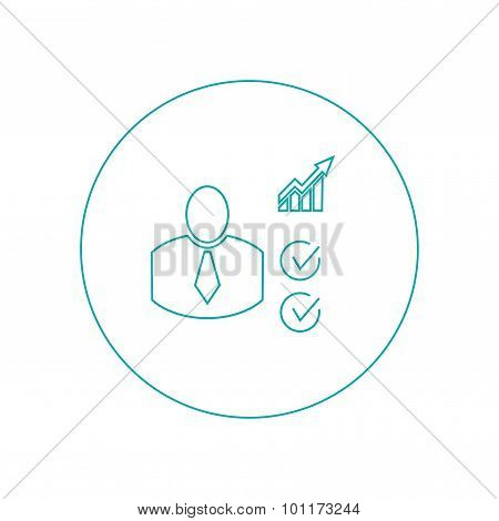 Business Metrics - Button - Business Metrics Concept icon - Stock Illustration flat design icon