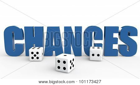 3d dice and word chances