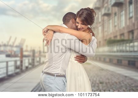 Happy Young Couple Share A Special Moment