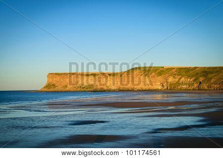 Sunset Cliff At Saltburn By The Sea