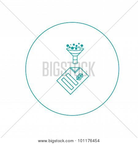 Tax Planning - Button - Stock Illustration - Tax Planning Concept Icon - Business Finance Concept Ic