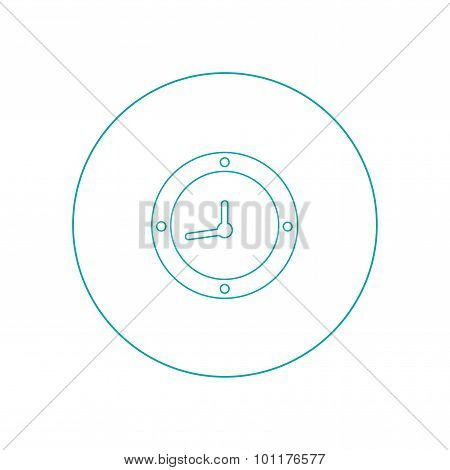 Time Tracker - Button - Stock Illustration - Watch With Time Face Icon - Chronograph Concept Icon