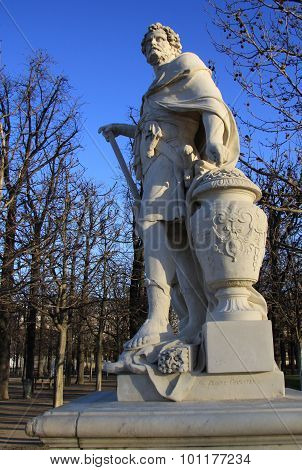 Sculpture In Jardin Des Tuileries (tuileries Garden), Paris, France