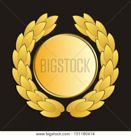 Vector Gold Medal And Laurels
