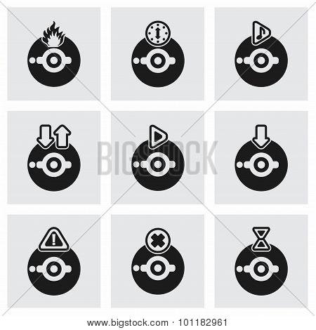 Vector CD icon set