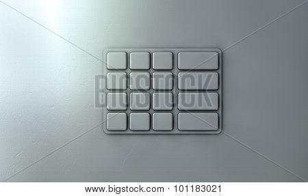 Atm Keypad Closeup