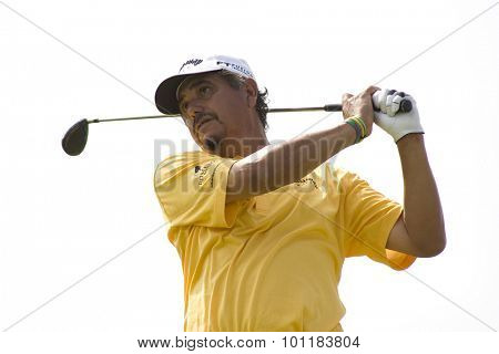 PARIS FRANCE, 02 JULY 2009. Eduardo Romero (ARG) competing in the 1st round of the PGA European Tour Open de France golf tournament.