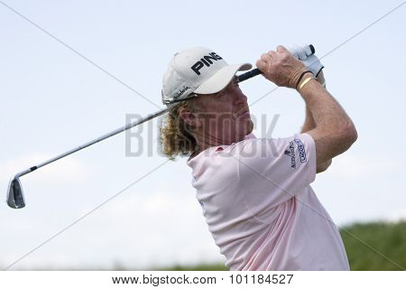 PARIS FRANCE, 03 JULY 2009. Miguel Angel JIMENEZ (ESP) competing in the 2nd round of the PGA European Tour Open de France golf tournament.