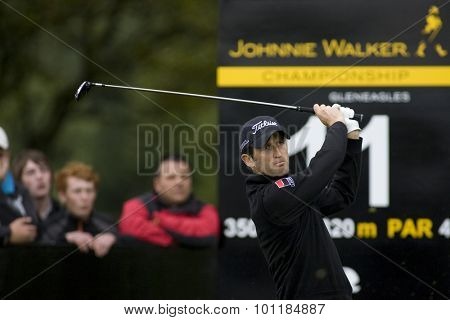 Aug 30 2009; Gleneagles Scotland; Gregory Bourdy (FRA) competing in the final round of the European Tour Johnnie Walker Championship.