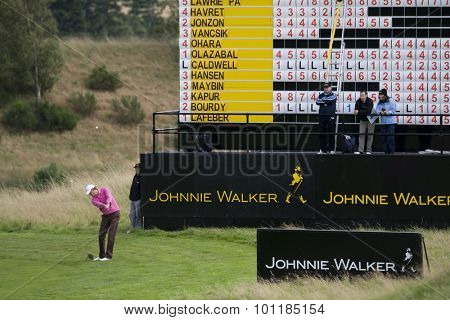 GLENEAGLES SCOTLAND, 28 AUGUST 2009. Maarten Lafeber (NED) competing in the second round of the European Tour Johnnie Walker Championship.