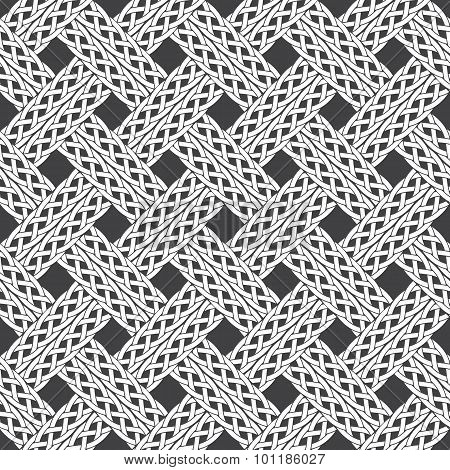 Seamless pattern of intersecting ropes