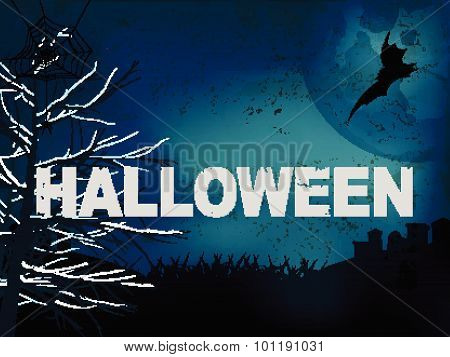 Halloween Creepy Dark Blue Background