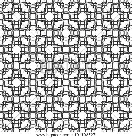 Seamless pattern of braided crosses