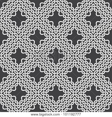 Seamless pattern of braided thread