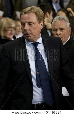 LONDON ENGLAND 25 August 2011. Tottenham's manager Harry Redknapp in action during the UEFA Europa league match between Tottenham Hotspurs  and Hearts. Played at White Hart Lane.