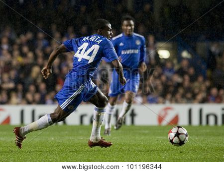 LONDON, ENGLAND. 08 December 2009. - Gael Kakuta playing for Chelsea  during the Uefa Champions League match, between Chelsea and Apoel Nicosia at Stamford Bridge.