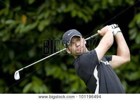 WENTWORTH, ENGLAND. 22 MAY 2009.Paul Casey (GBR) playing in the 2nd round of the European Tour BMW PGA Championship.