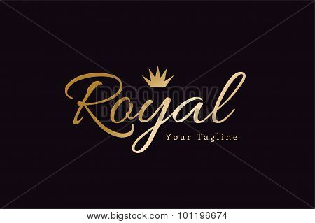 Royal logo vector template hotel