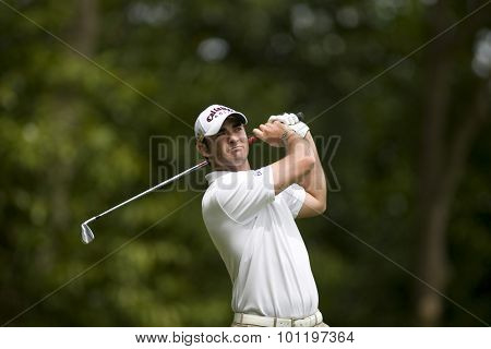 WENTWORTH, ENGLAND. 23 MAY 2009.Anton HAIG RSA  playing in the 3rd round of the European Tour BMW PGA Championship.