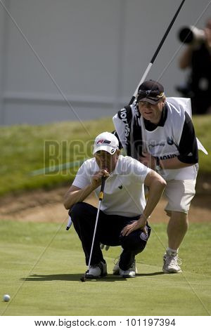 WENTWORTH, ENGLAND. 21 MAY 2009.Scott DRUMMOND SCO playing in the European Tour BMW PGA Championship.