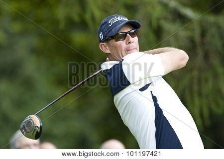GLENEAGLES SCOTLAND, 27 AUGUST 2009. James Kingston (RSA) competing in the first round of the European Tour Johnnie Walker Championship.