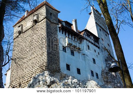 View from back yard of Bran Castle, Romania
