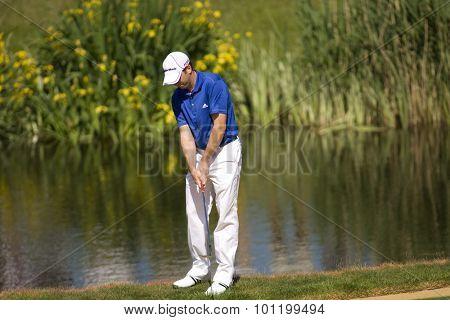 KENT ENGLAND, 30 MAY 2009. Sergio GARCIA (ESP) playing in the third round of the European Tour European Open golf tournament.