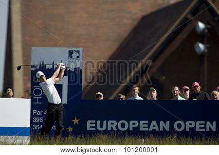 KENT ENGLAND, 30 MAY 2009. Martin KAYMER (GER) playing in the third round of the European Tour European Open golf tournament.