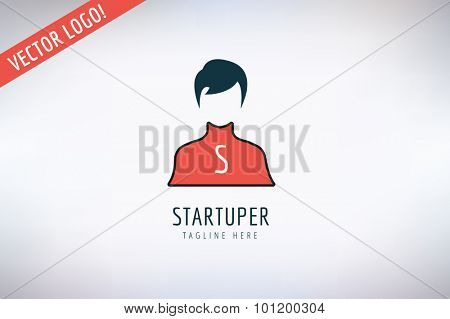 Human vector icon illustration isolated. Shirt, face and flat symbol. Man silhouette icon. Business man and man silhouette. People abstract icon Isolated. Avatar, person face, couple.People silhouette
