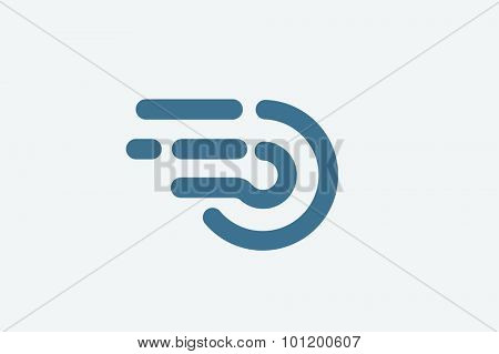 Fast line circle logo. Orbit rings monogram. Vector O circle. Circle O letter design. Abstract circle shape. Round rings. Ring circle symbol. Thin line circle.  Together circle icon