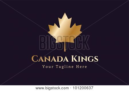Canada leaf logo vector template. Hotel logo. Kings symbol. Royal crests leaf monogram. Kings Top hotel. Letters logo. Royal hotel, Premium leaf brand boutique, Fashion logo, Lawyer logo. Crown