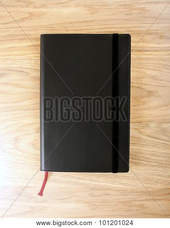 Black Copybook With Elastic Band