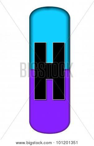 Alphabet Capsule H
