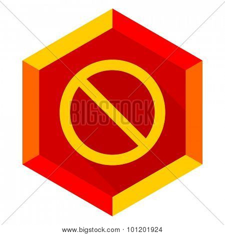 access denied flat design modern icon with long shadow for web and mobile app