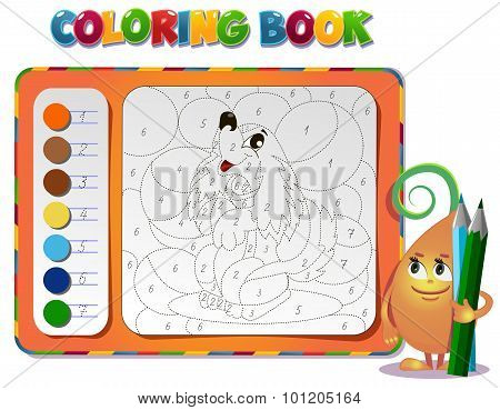Coloring Book About Dog